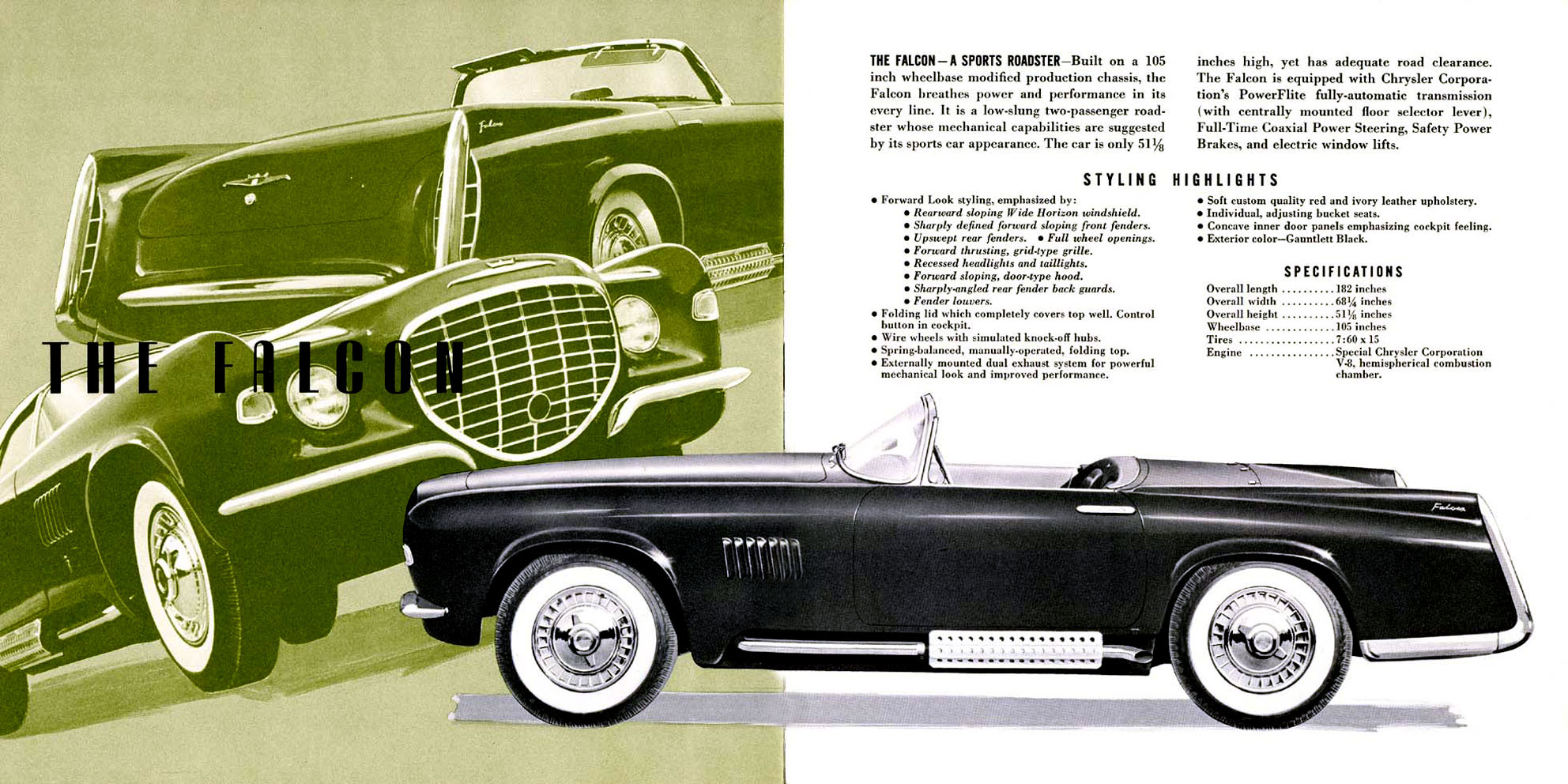 1956 chrysler boano auto shows car and driver - 1956 Falcon Concept Chrysler 2 Seater Concept I Guess Ford Got To The Name After Them Chrysler Imperial Cord Car Brochures Pinterest Falcons