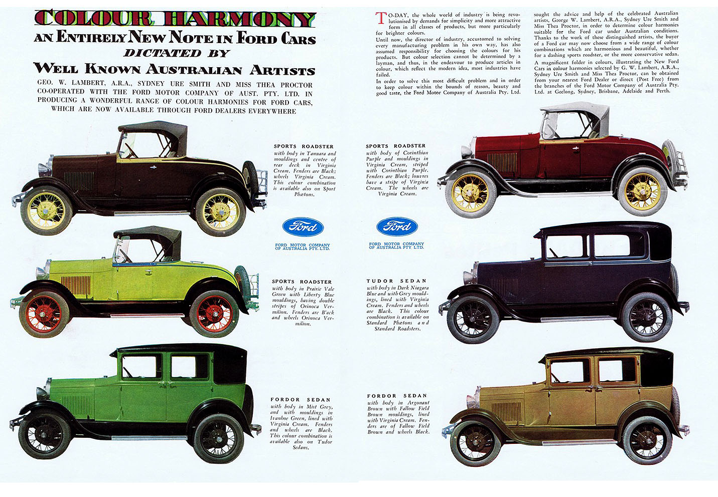 1929 Ford Color Chart Myideasbedroom Com