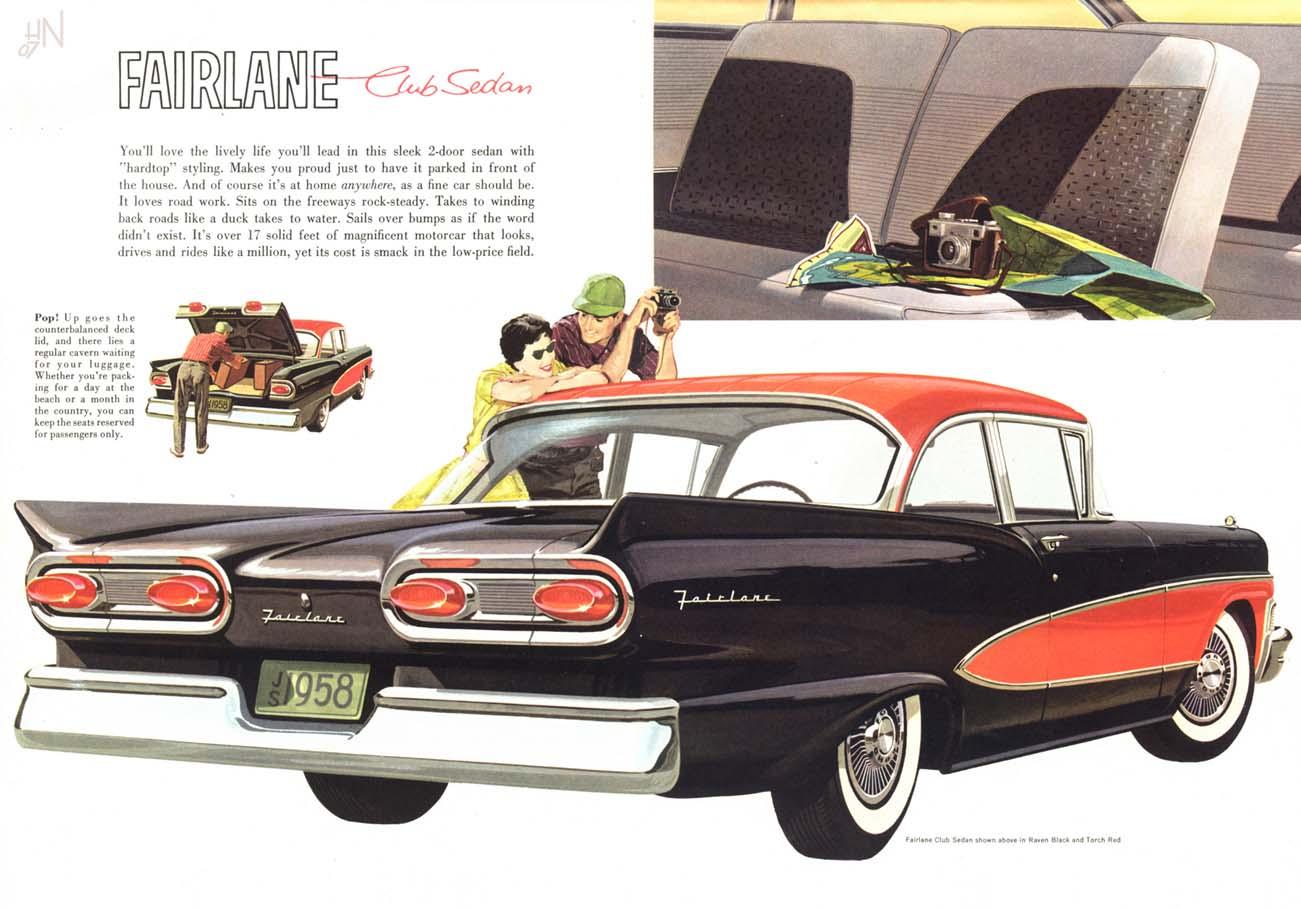 Plan59 classic car art vintage ads 1958 ford fairlane ford car ads pinterest ford fairlane ford and cars