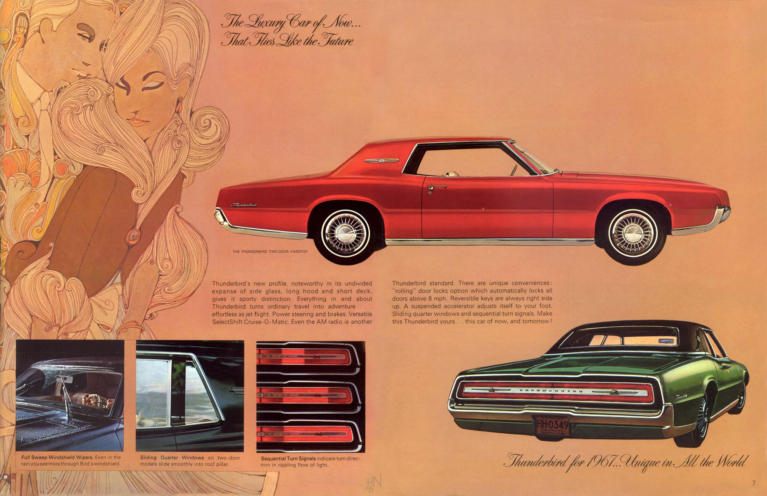 4 jpg 2 520 1 631 pixels 1967 thuderbird ford car brochures pinterest ford thunderbird ford and cars