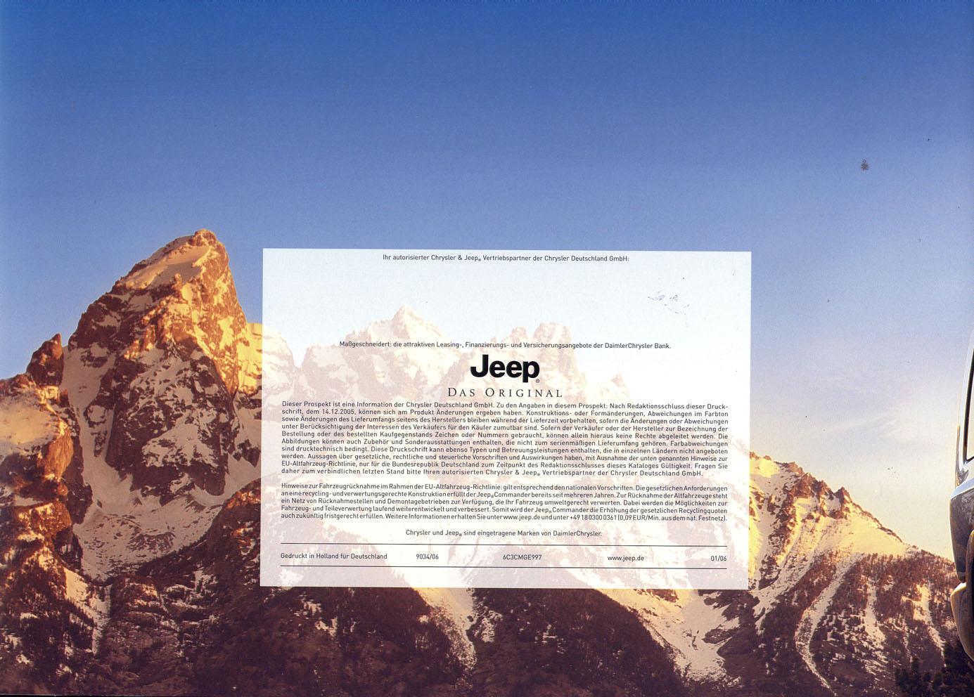 jeep commander technische daten