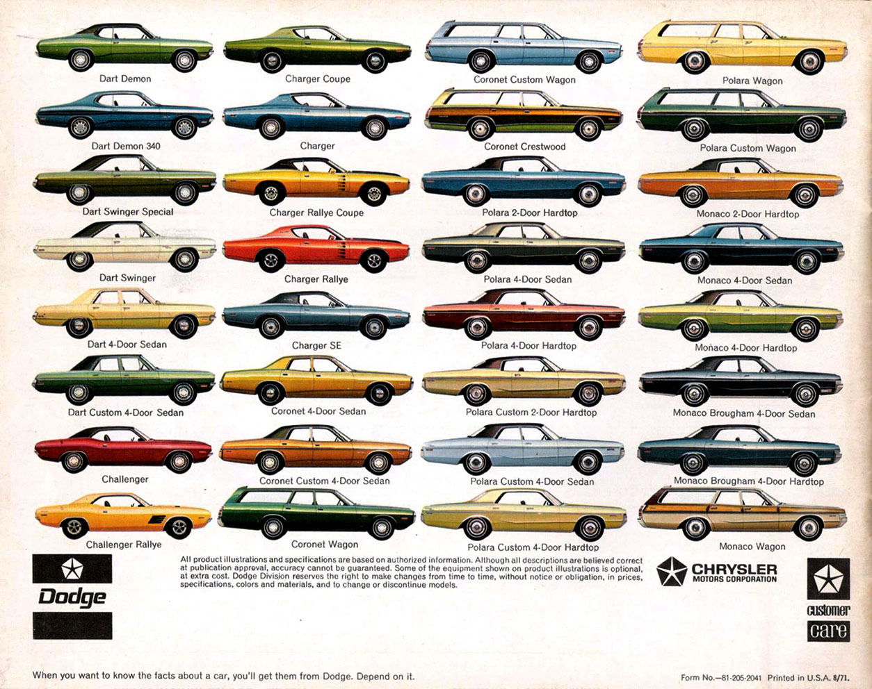 original sales brochures every car page 3 for a