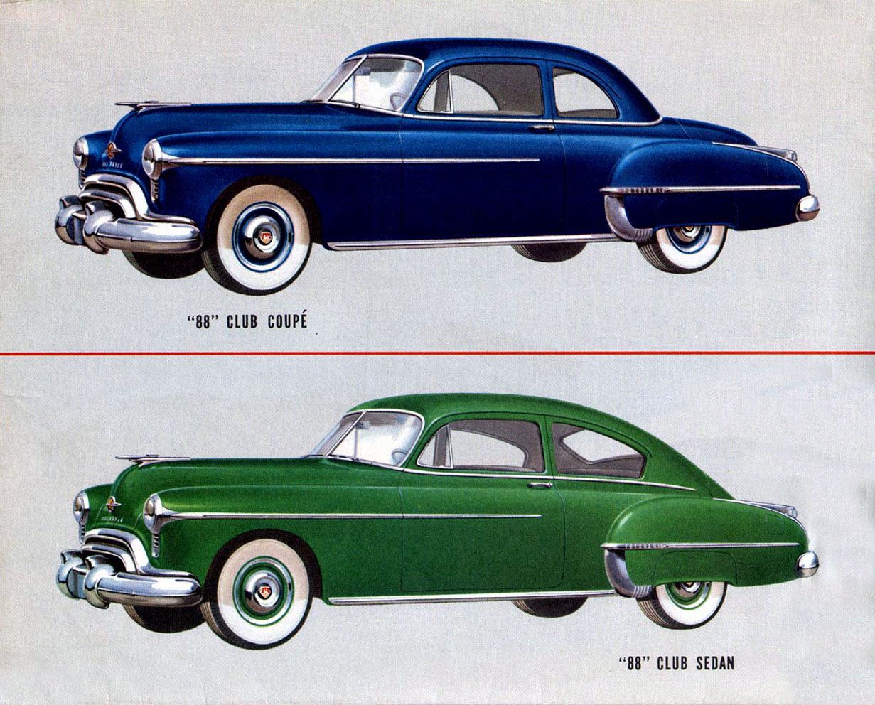 1950 Oldsmobile 88 Club Coupe Wheels Cars Antique