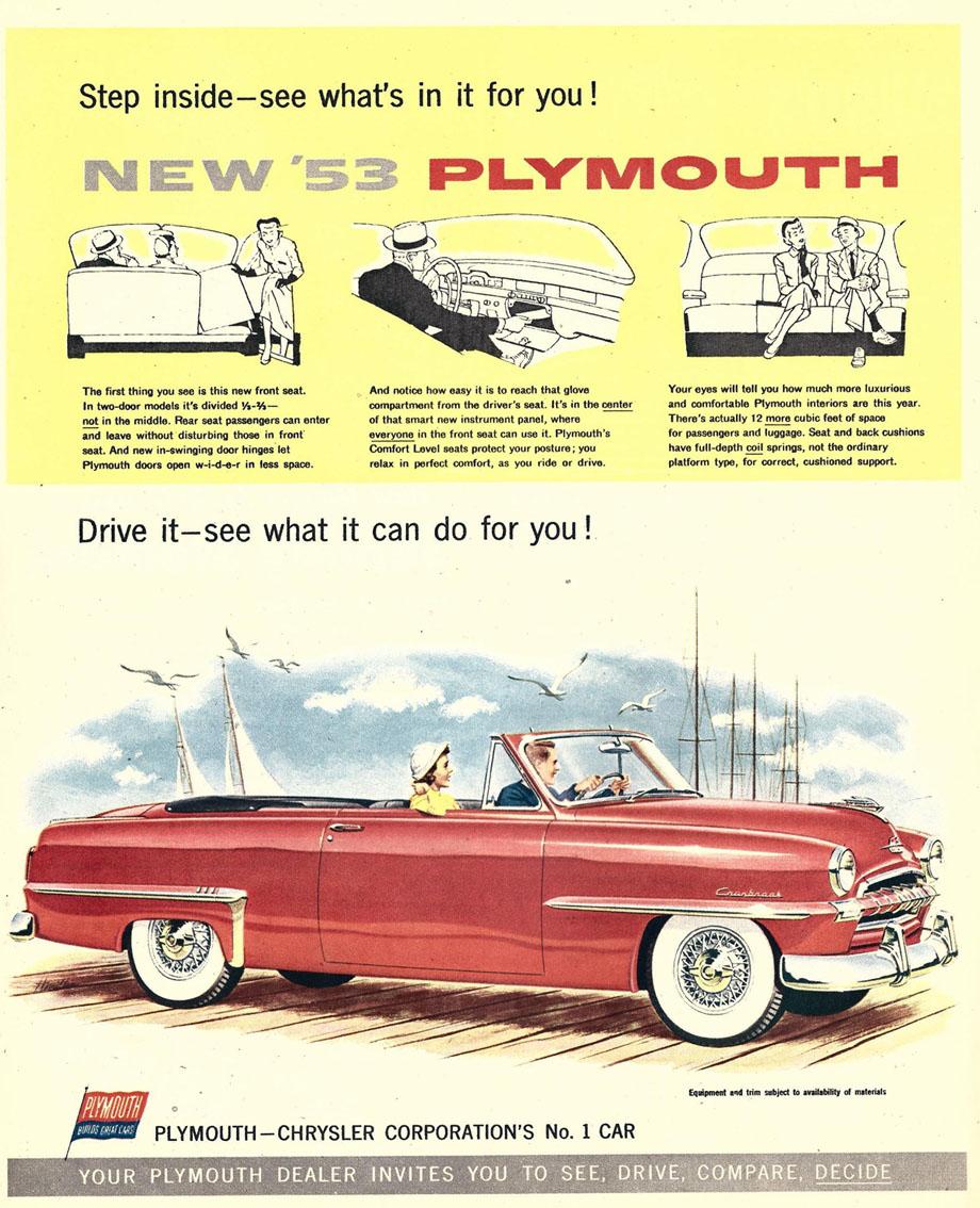 1955 dodge royal lancer convertible cream black fvr cars - 1953 Plymouth Cranbrook Convertible Club Coupe