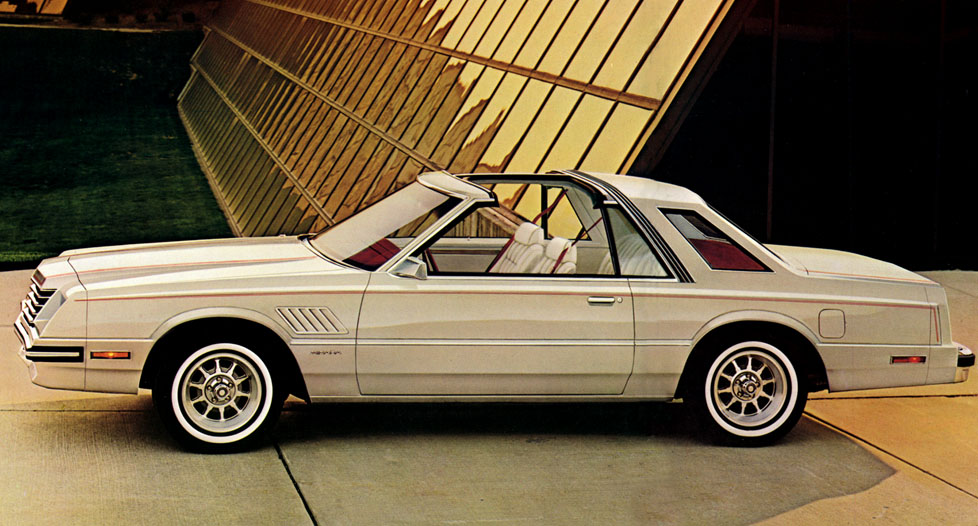 1980 Model of Dodge Mirada targa, hardtop, convertible