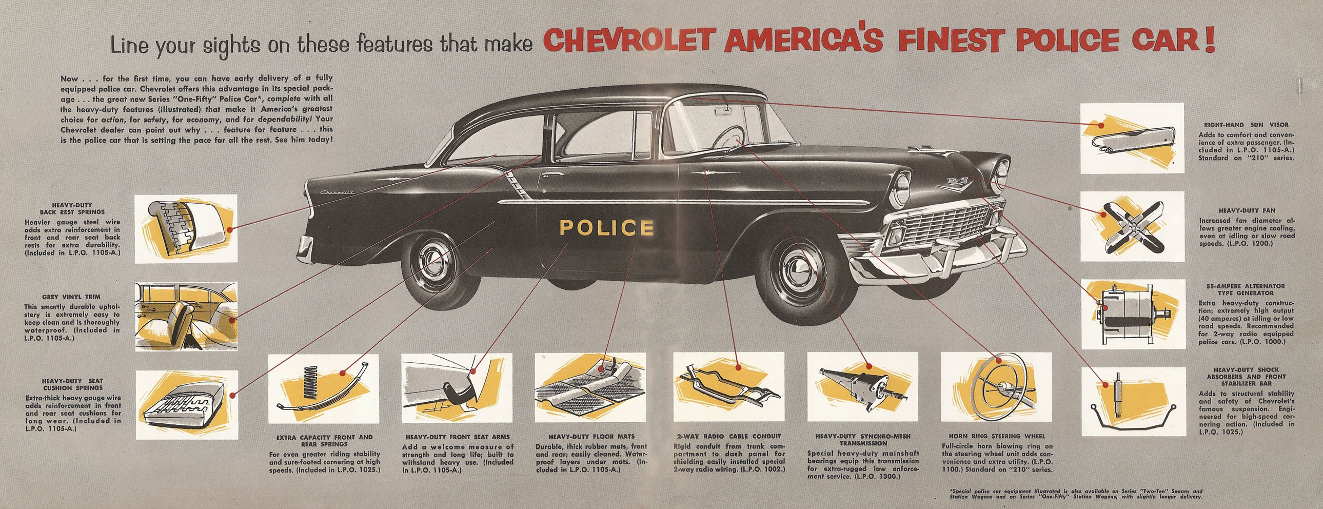 Hot Cars 56 Chevy Wiring 1956 Chevrolet Police
