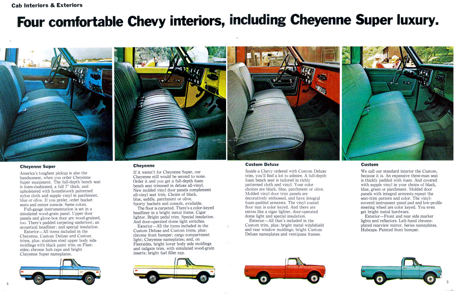 All Chevy 1972 chevrolet cheyenne super : How to tell difference between cheyenne,super and custom? - The ...