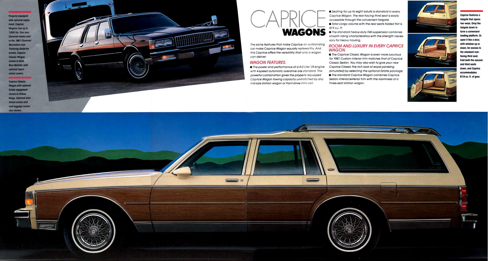 All Chevy chevy caprice 1985 : 1985-88 Chevrolet Caprice Estate / Ford LTD Country Squire wagons ...